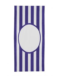 Printer Friendly College Stripe Towel
